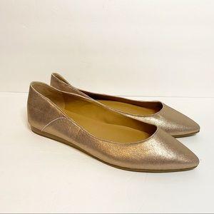 Lucky Brand Flats Metallic Rose Gold 8.5